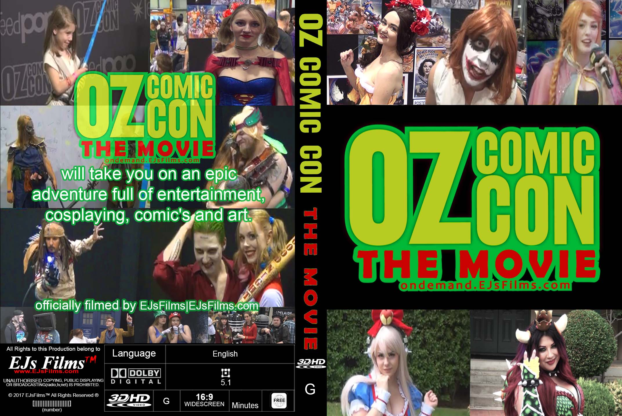 Oz Comic Con The Movie (3D) | PG | Documentary | 2017 | by EJsFilms.com -